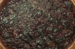 Mein fast fertiges Pflaumenmus – sieht nicht so aus, ist aber umwerfend lecker